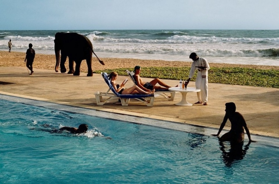 Steve McCurry: Tourist at the Resort Bentota, Sri Lanka. 1995