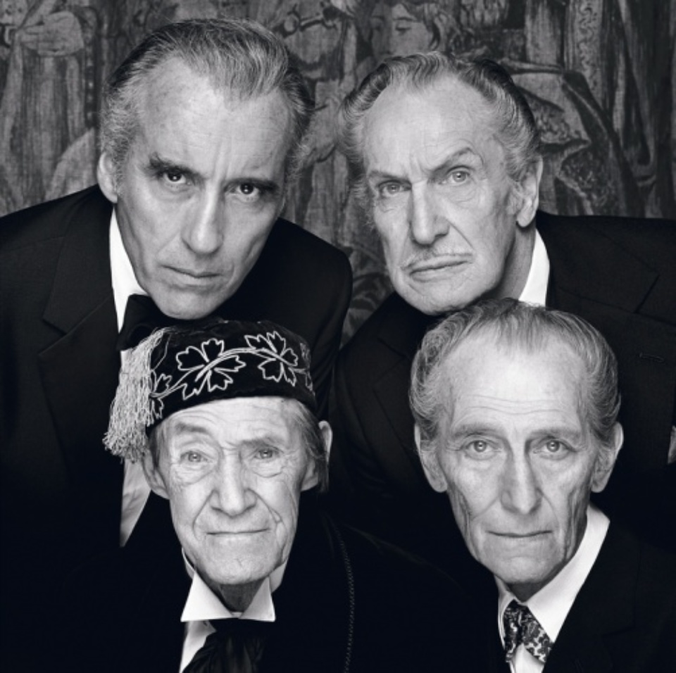 Terry O'Neill: The four Kings of Horror Hampshire, 1983 Gelatin silver print Signed on verso & on recto Numbered on verso 50,9 x 45 c, Ed. 31/50