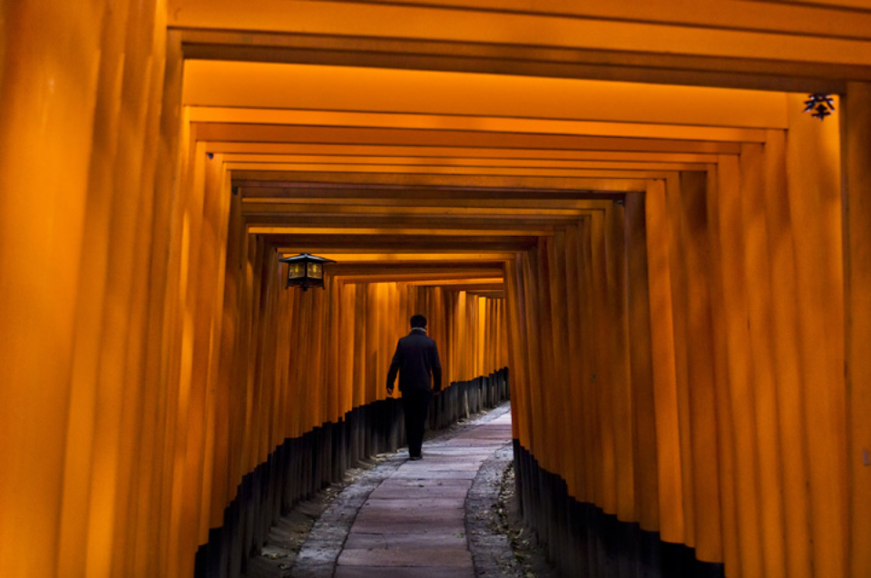 Steve McCurry: Fushimi Inari Shrine Japan, 2007 C-print Signed, titled, dated and numbered on verso 50 x 60 cm Editioned