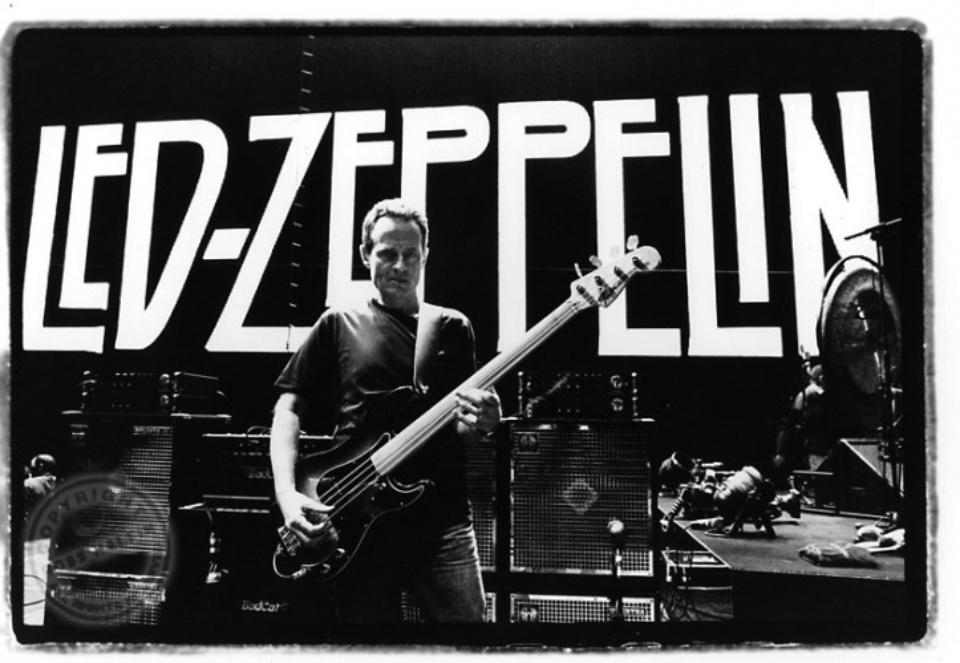 Ross Halfin: John Paul Jones - Led Zeppelin Soundcheck at the O2 Arena, London, 2007