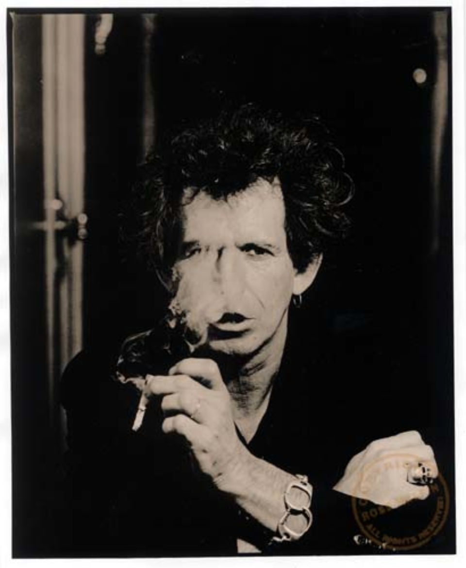 Ross Halfin: Keith Richards Copenhagen, 1995