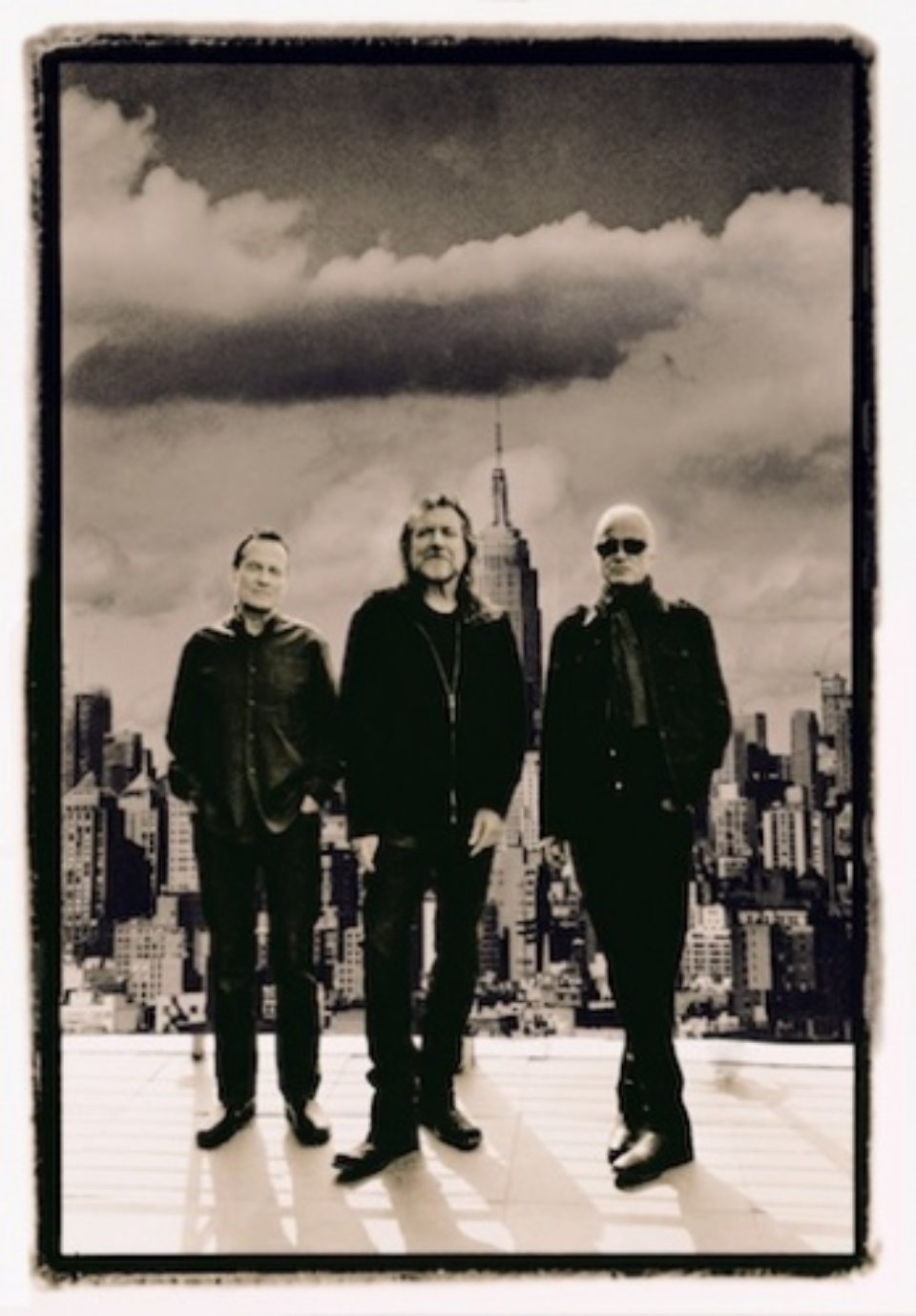 Ross Halfin: Led Zeppelin The Rooftop of the Royalton Hotel, NYC, 2012