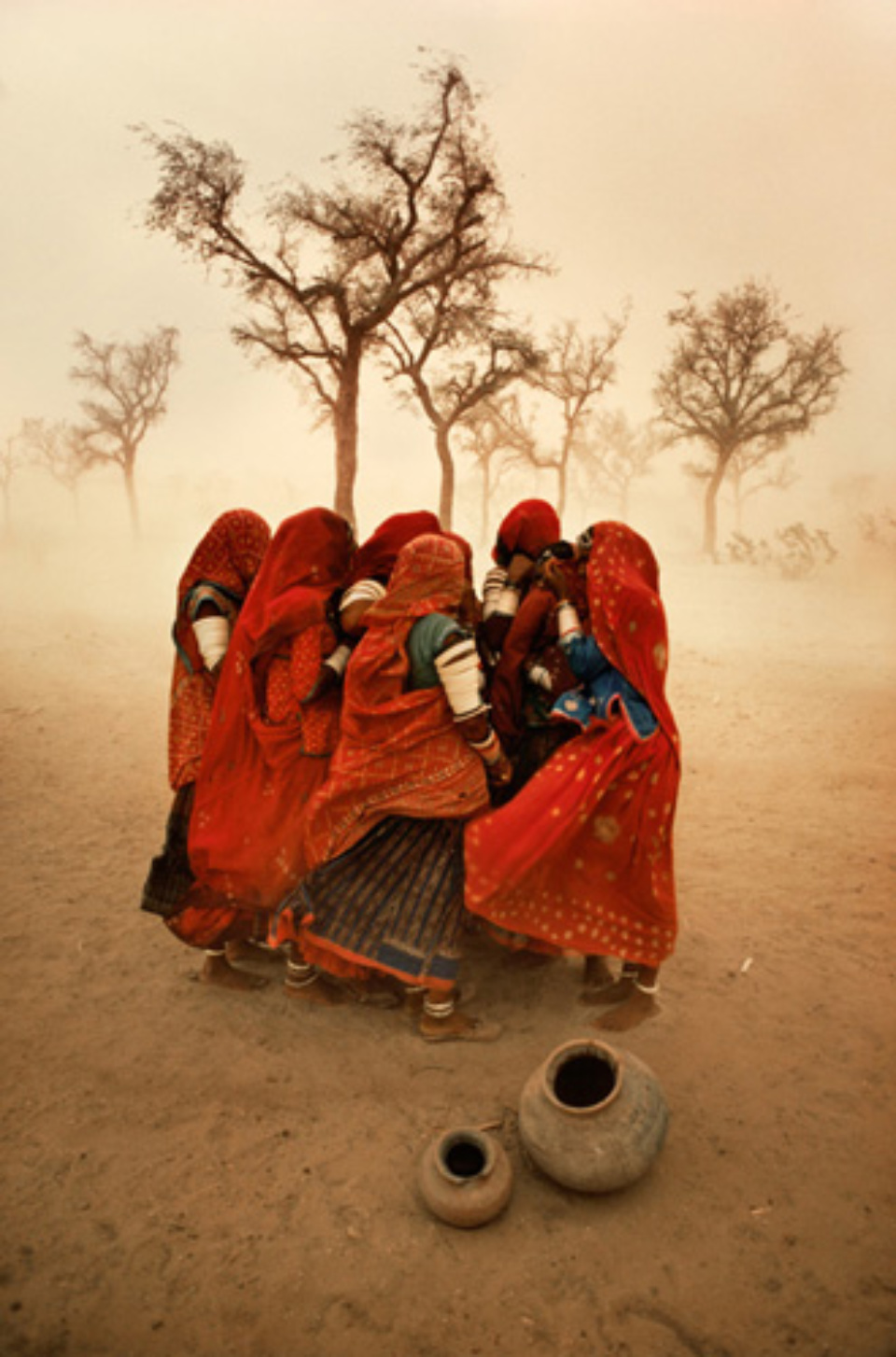 Steve McCurry: Dust Storm Rajasthan, India, 1983 Signed, titled, dated and numbered on verso C-print 60 x 50 cm // 152 x 101 cm Editioned