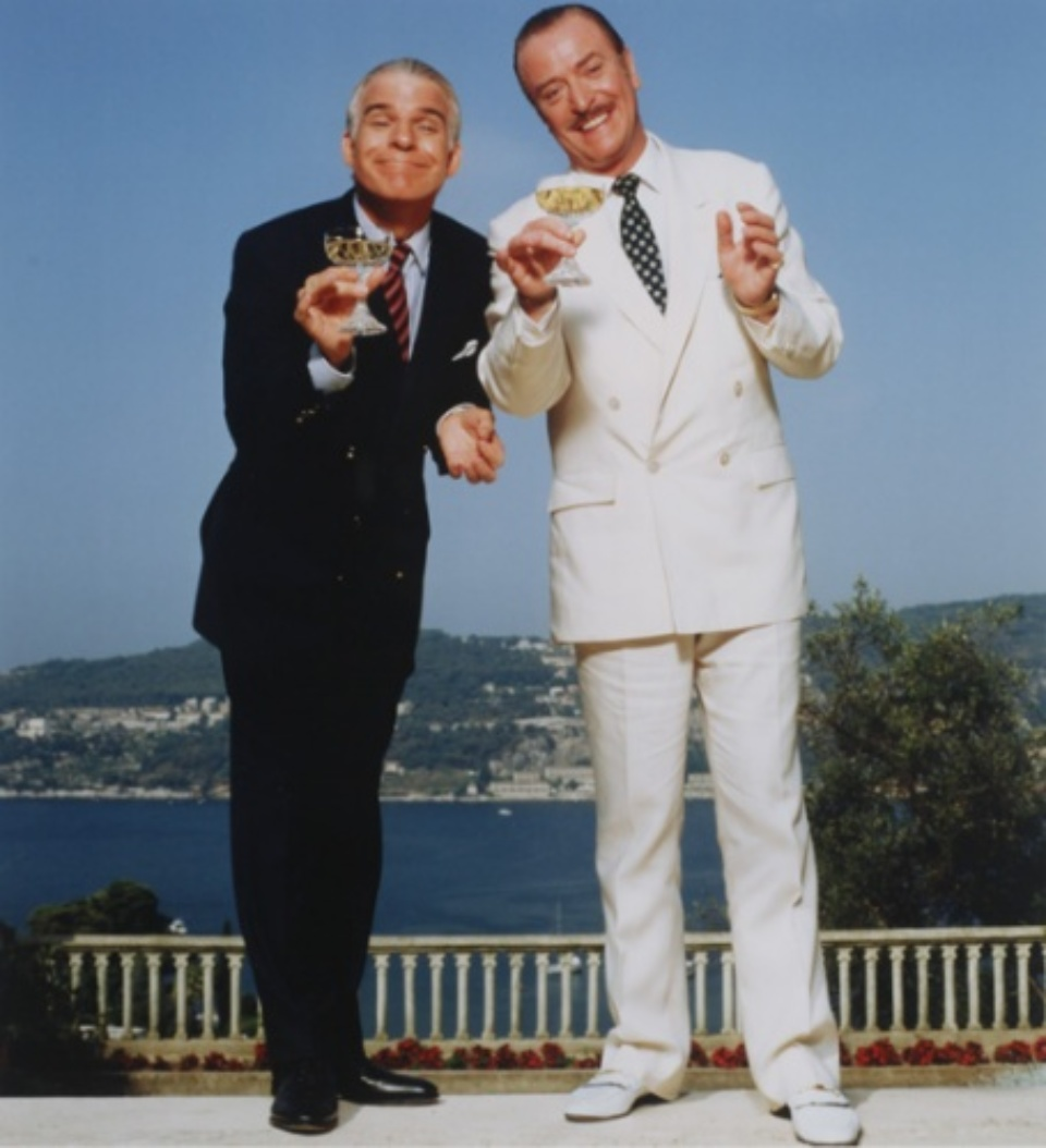Terry O'Neill: Steve Martin & Michael Caine, Côte d'Azur, France 1988 C-print Signed and numbered on recto 50 x 60 cm Ed. 11/50