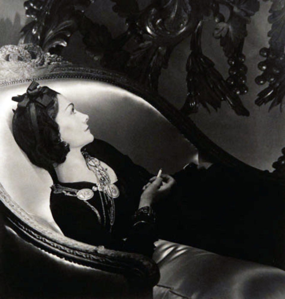 Horst P. Horst: Coco Chanel Paris, 1937 Signed Modern platinum palladium print Signed on recto