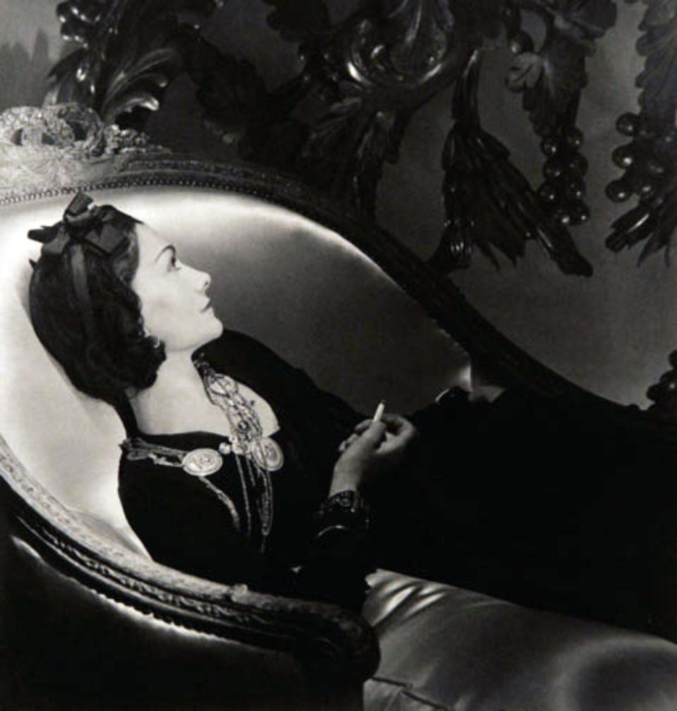 Horst P. Horst: Coco Chanel Paris, 1937 Signed Modern platinum palladium print Signed on recto
