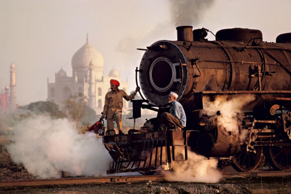 Taj Mahal And Train India, 1983