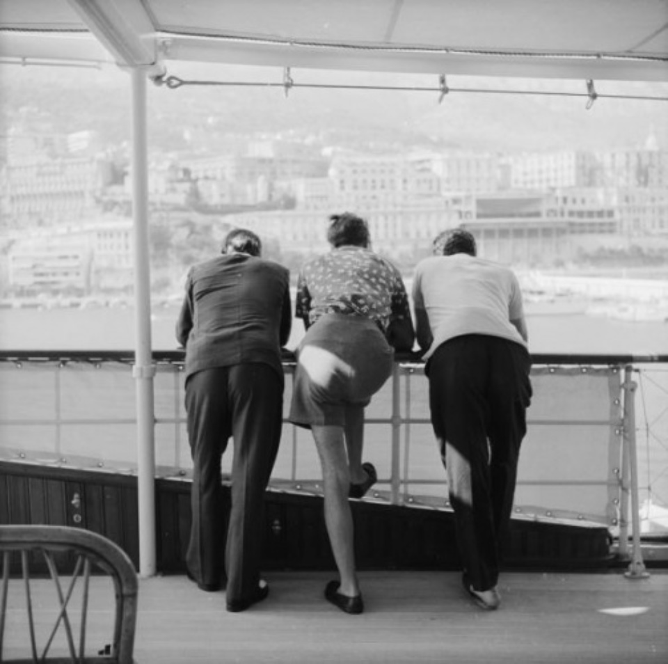 Slim Aarons: Onassis on Board Monte Carlo, 1958 Gelatin Silver print