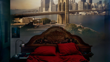 Abelardo Morell: Camera Obscura: View of Brooklyn Bridge in Bedroom 2009 C-print Signed, titled and numbered on verso 1/10