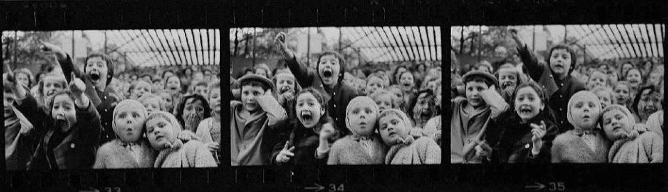 Alfred Eisenstaedt Three frames of children at a puppet theatre France, 1963 Gelatin Silver Print Ed. 1/250