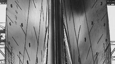 Alfred Eisenstaedt Full frontal view of the America Newport, Va, 1939 Gelatin Silver Print