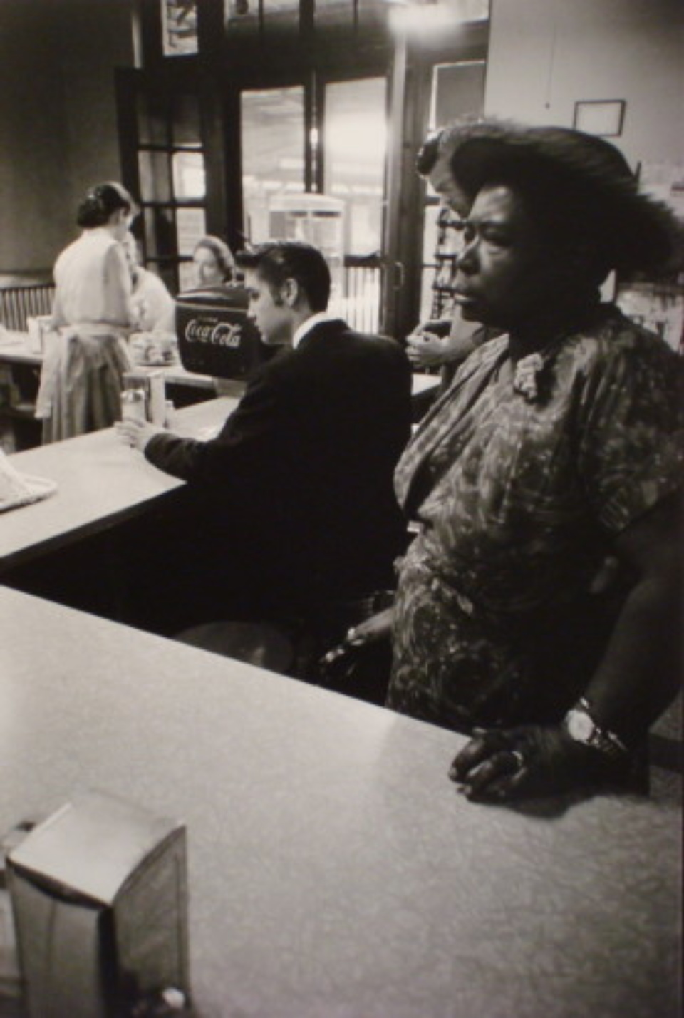 Alfred Wertheimer Woman waiting at the segregated lunch counter Tenessee, 1956 Gelatin Silver Print, printed later Signed, titled and date