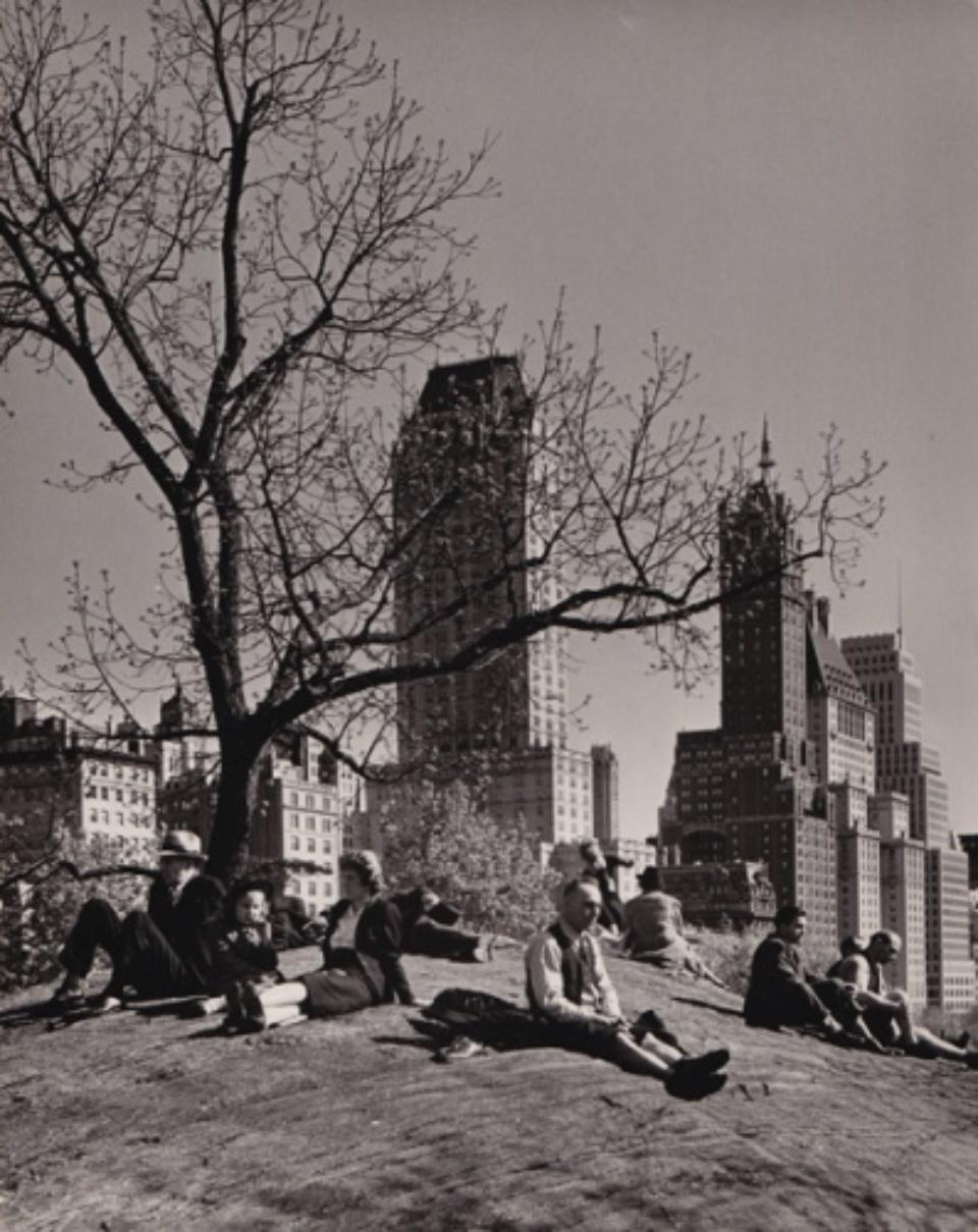 Andreas Feininger: New York Central Park 1940 Vintage gelatin silver print Signed on verso c 18 x 24 cm