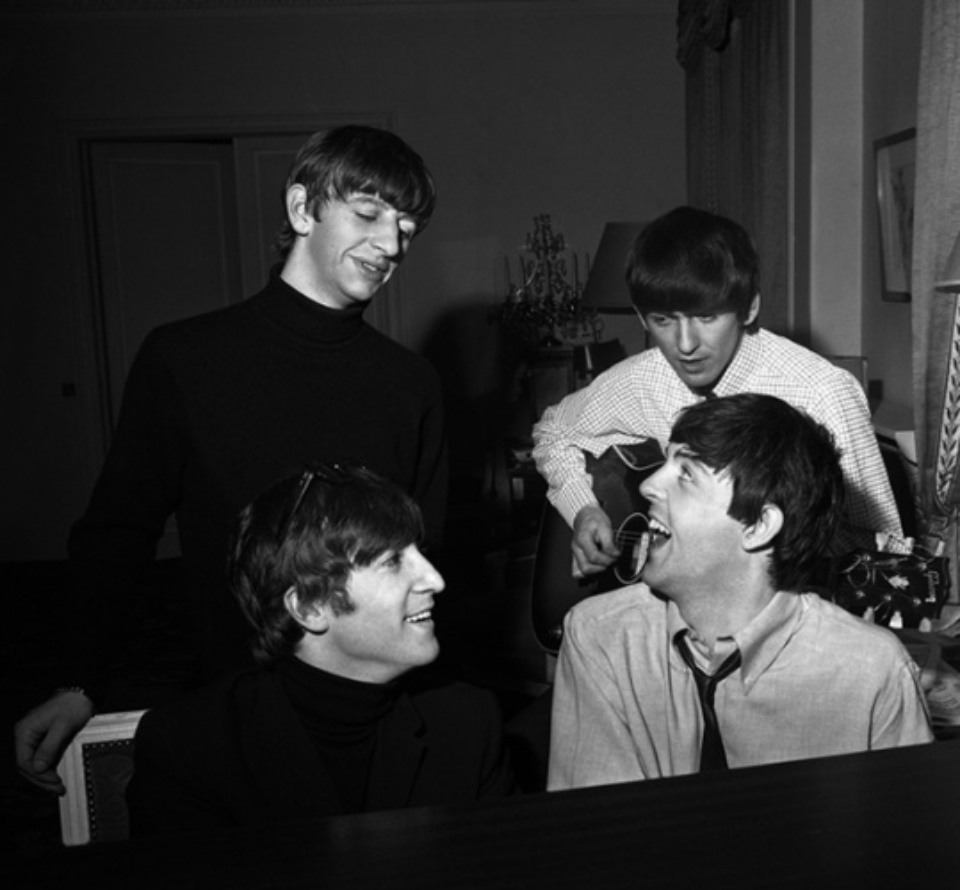 Harry Benson Beatles composing No. 3 at the Piano 1964 Gelatin silver print, printed later Signed, titled and dated 50 x 40 cm