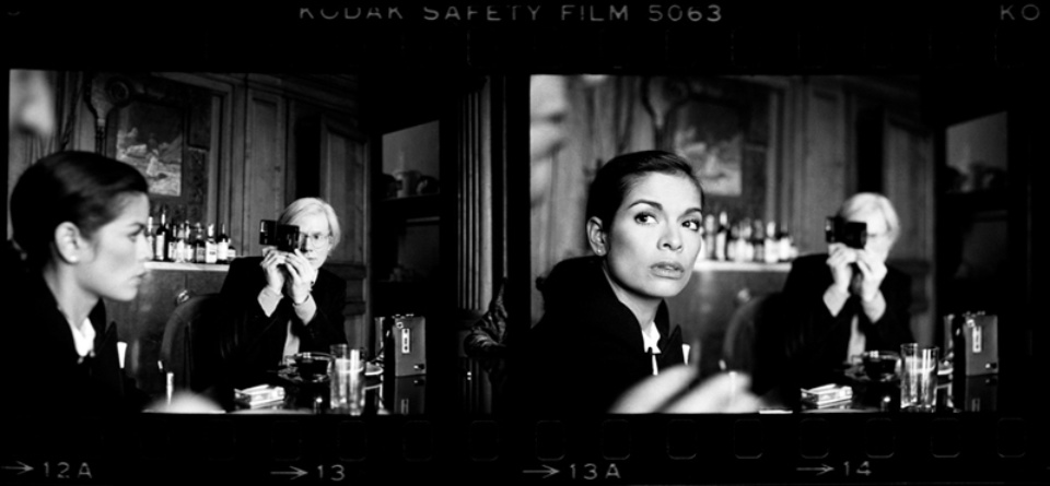Harry Benson Bianca Jagger and Andy Warhol, 1977 Gelatin silver print, printed later Signed, titled and dated