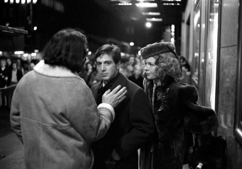 Harry Benson Francis Ford Coppola with Al Pacino and Diane Keaton 1971 Gelatin silver print, printed later Signed, titled and dated