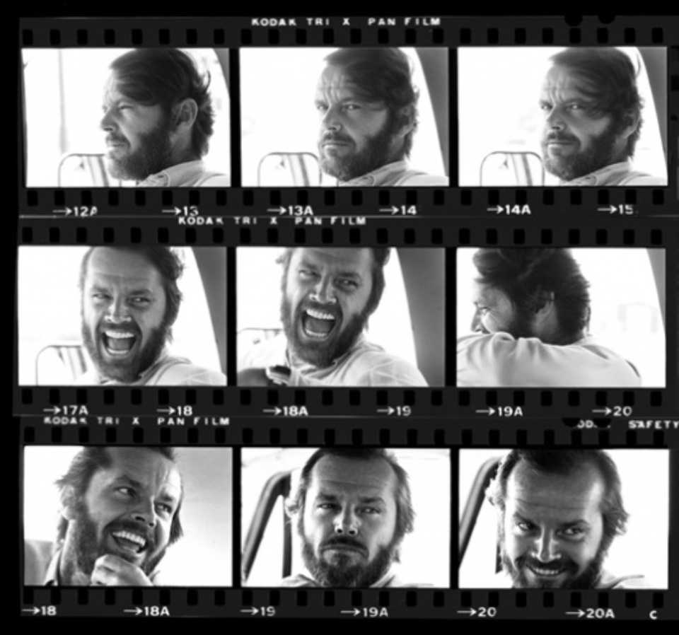Harry Benson Jack Nicholson, Gelatin silver print, printed later Signed, titled and dated 40 x 50 cm