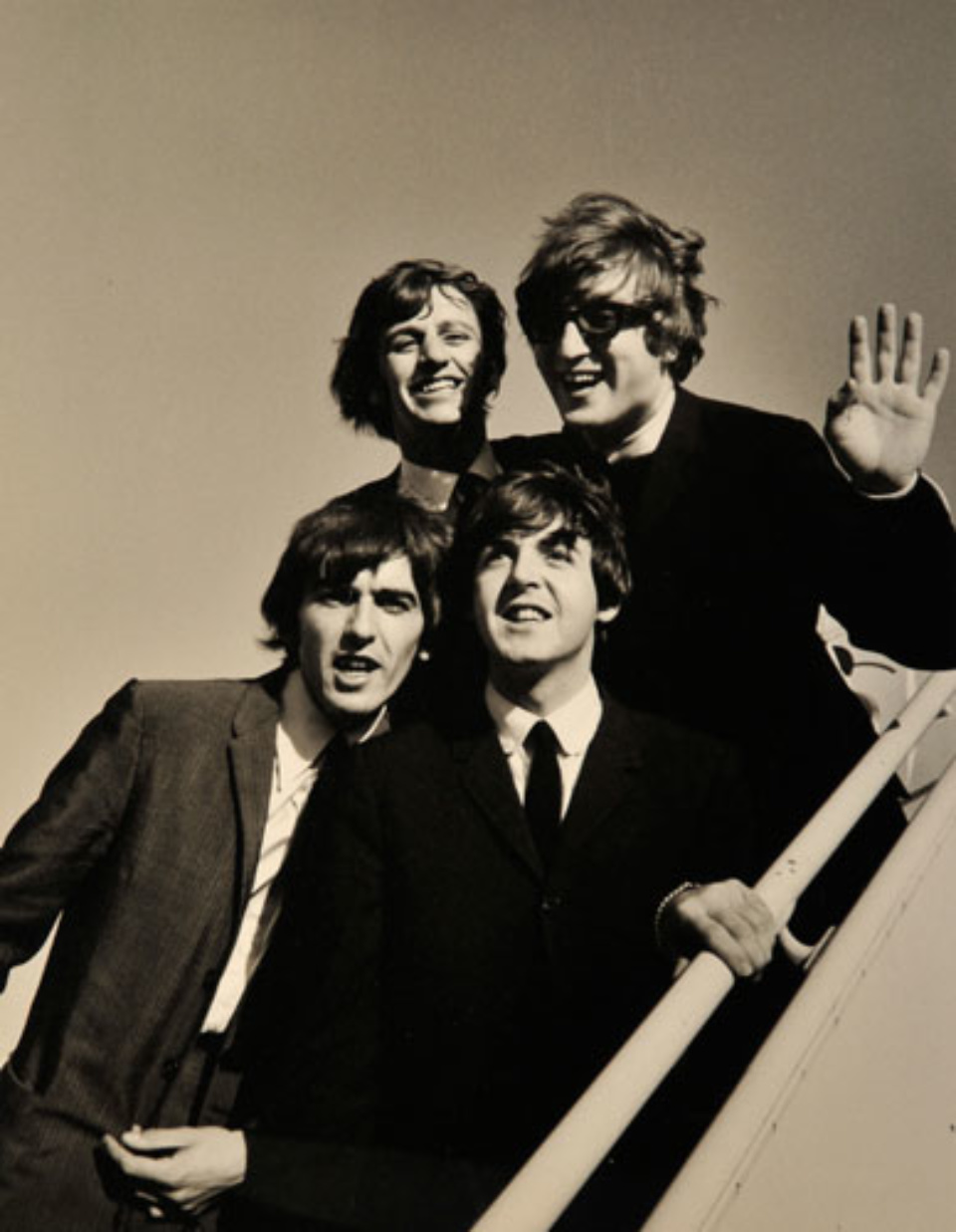 Bill Ray: Beatles arrive at JFK New York, 1964 Gelatin silver print, printed later Signed, titled and dated