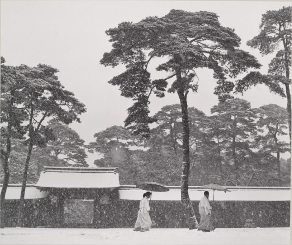 Werner Bischof: In the Court of the Meiji Temple Tokyo, Japan