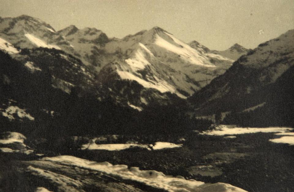 C. Grefe Bergpanorama 1928 Vintage bromoil print