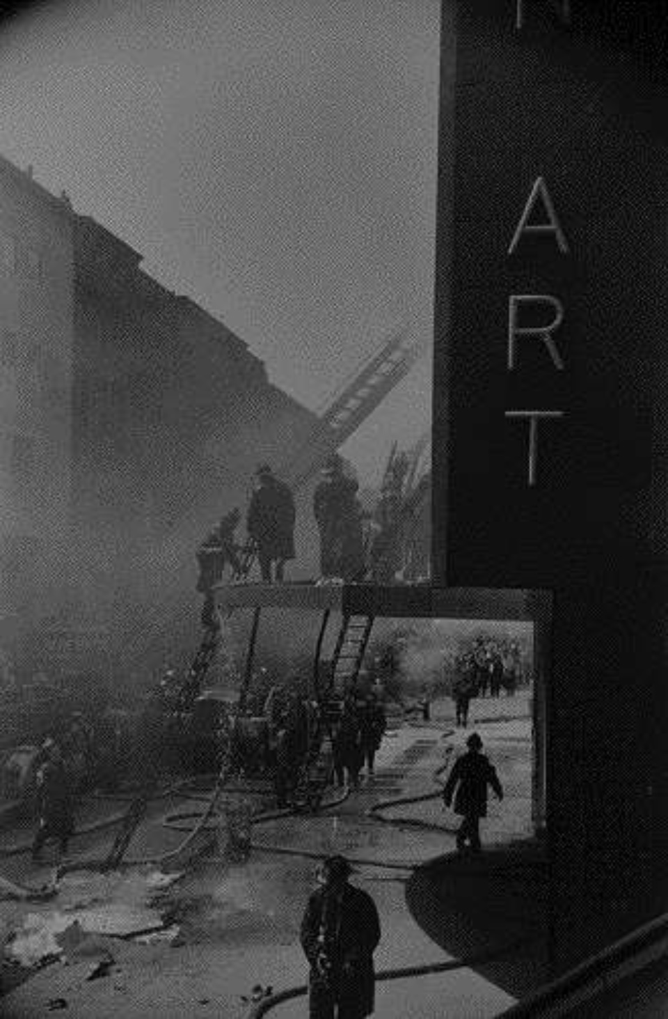 Elliott Erwitt Fire at the Museum of Modern Art NYC, 1958 Gelatin Silver Print