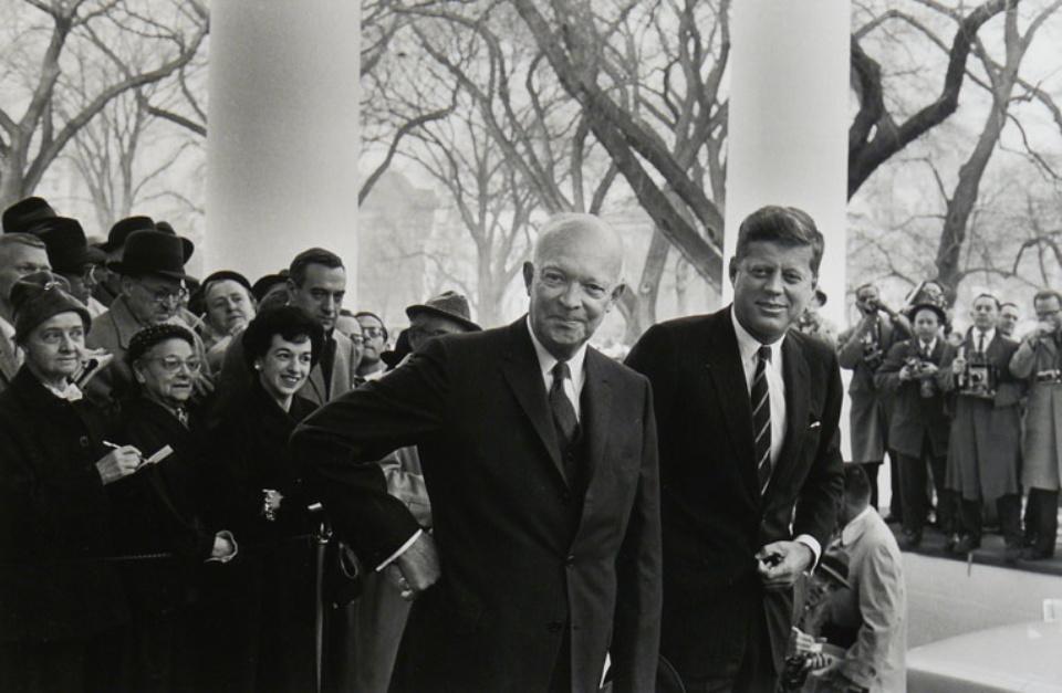 Elliott Erwitt Dwight D. Eisenhower & John F. Kennedy Washington D.C., 1960 Gelatin Silver Print Signed, titled, dated Available in different formats