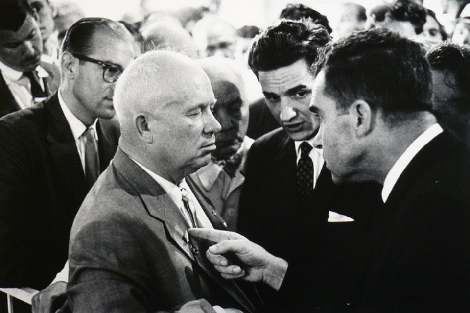 Elliott Erwitt Nikita Khrushchev and Richard Nixon Moscow, UdSSR, 1959 Gelatin Silver Print Signed, titled, dated Available in different formats