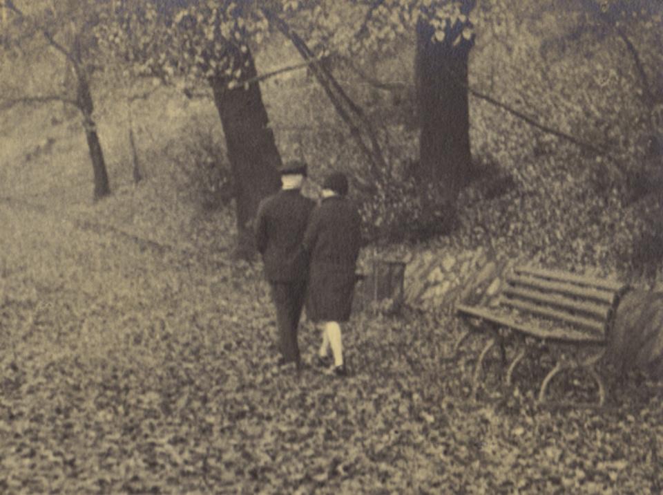 Franz Münster Frühling im Herbst 1929 Vintage silver bromide print Annotated on verso 15 x 20 cm