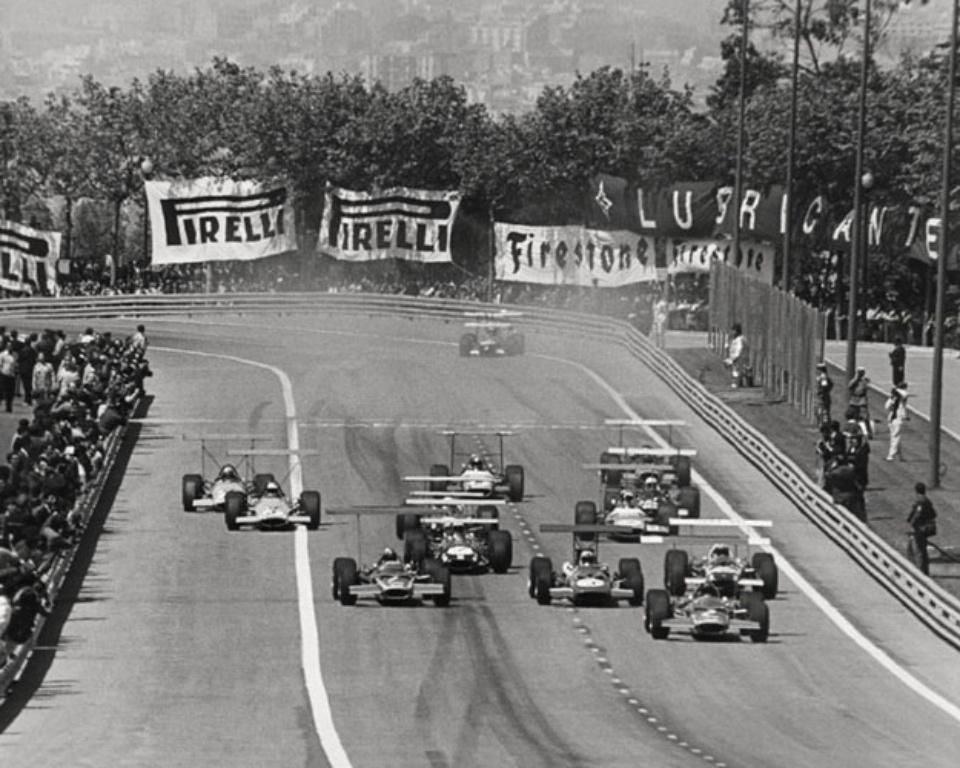 Ferdi Kräling Startrunde, Rindt in Führung Barcelona, 1969