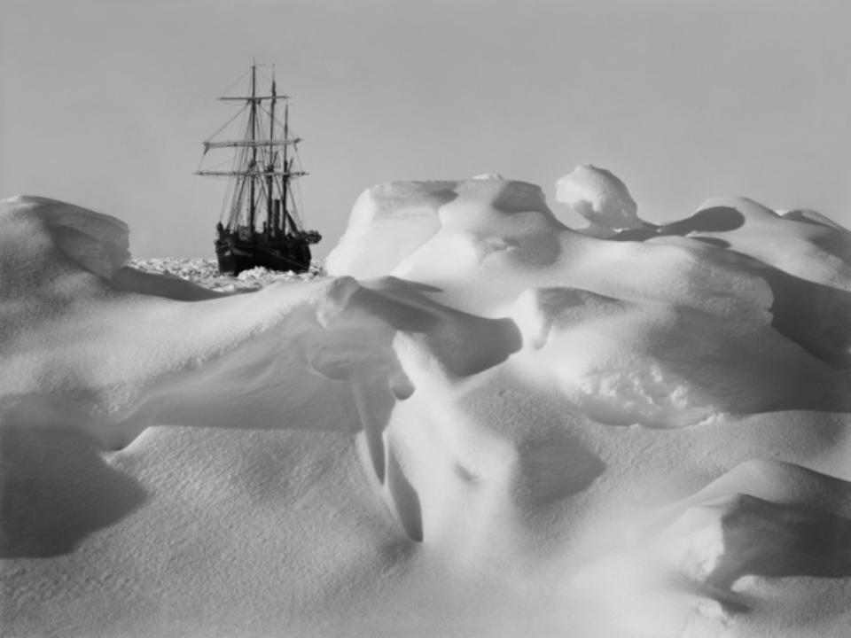 Frank Hurley Endurance Frozen in the Ice 1915
