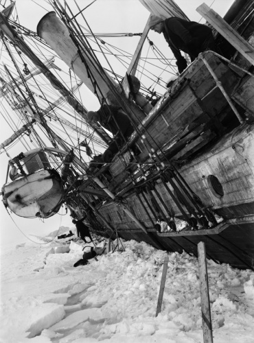 Frank Hurley The Endurance Keeled Over By Pressure, Antarctica 1915, printed later Platinum Print