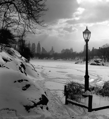 Fred Stein, Central Park Snow, New York 1945
