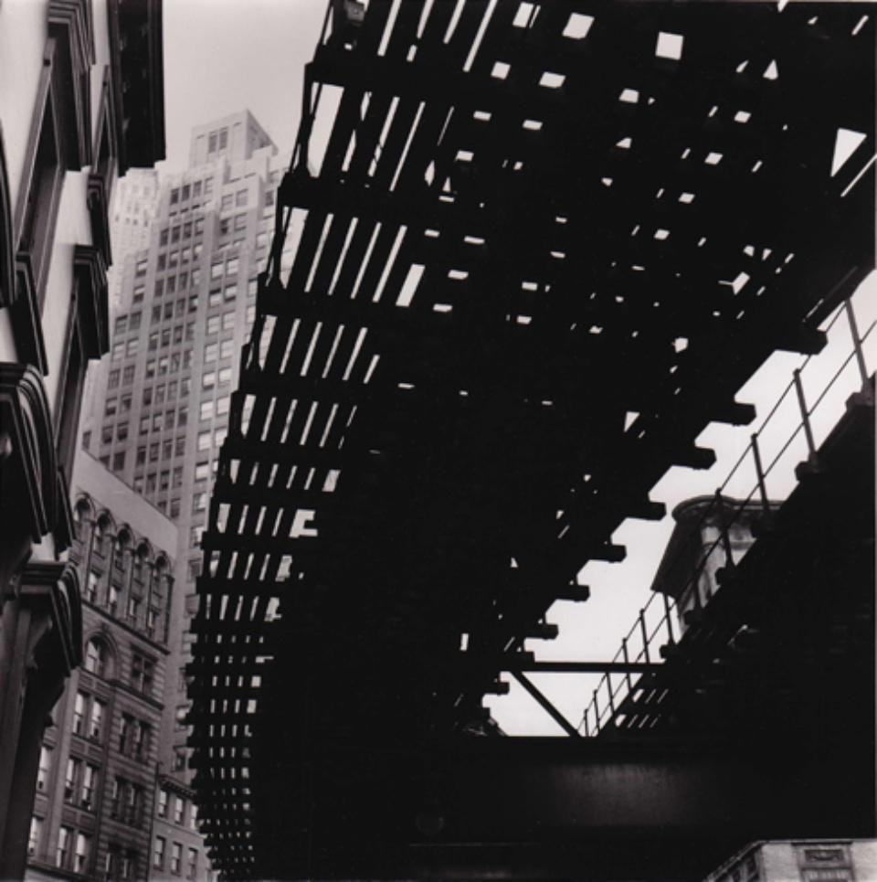 Fred Stein El Tracks New York, 1947 Vintage gelatin silver print 19,8 x 19,9 cm