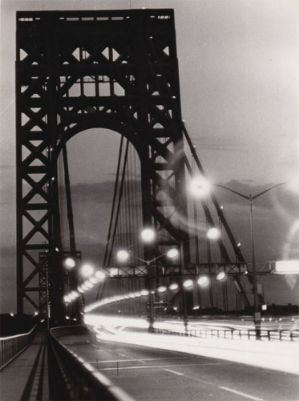 Fred Stein George Washington Bridge Time Lapse New York, 1949 Vintage gelatin silver print 18 x 24 cm