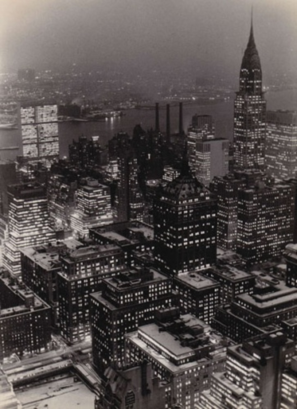 Fred Stein Manhattan Night New York, 1947 Vintage gelatin silver print 17,5 x 24,5 cm