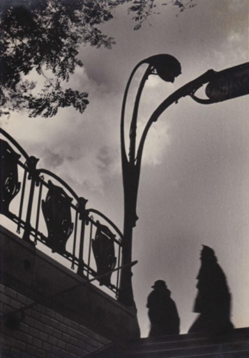 Fred Stein Metro Exit Silhouette Paris, 1939 Vintage gelatin silver print 18 x 17,5 cm
