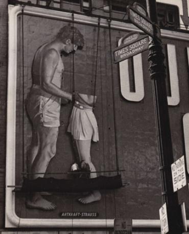 Fred Stein Untitled (Billboard, Times Square) New York, 1948 Vintage gelatin silver print 25,5 x 20,5 cm