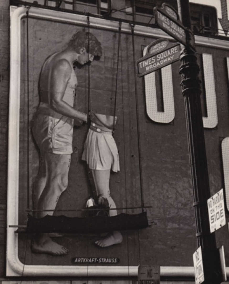 Fred Stein Untitled (Billboard, Times Square) New York, 1948 Vintage gelatin silver print 25,5 x 20,5 cm