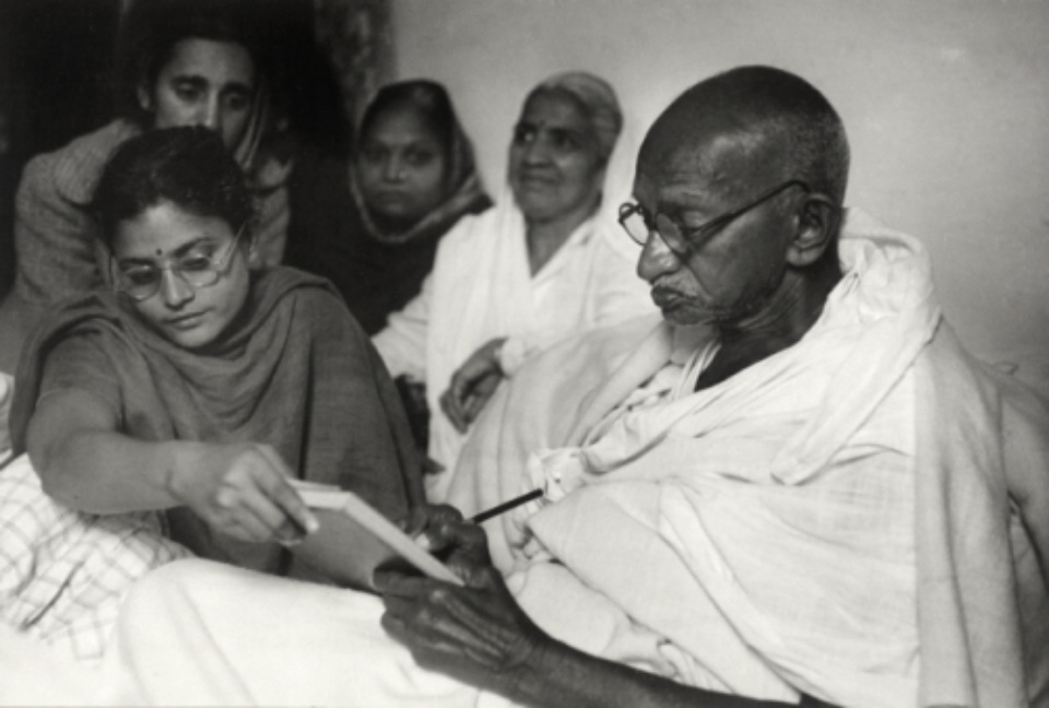Henri Cartier-Bresson: Gandhi, Just Before Ending His Fast Birla House, Delhi, India, 1948