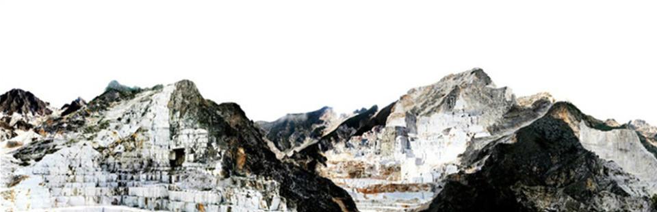 Georg Küttinger: Carrara 2009 Diasec Print 75 x 270 cm Ed. AP