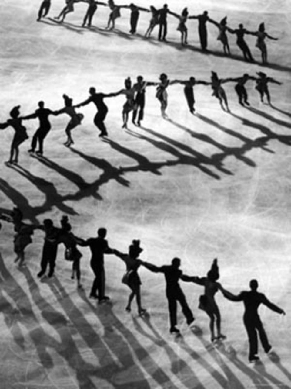 Gjon Mili Skaters of Hollywood Ice Revue at Madison Square Garden 1948 Gelatin silver print