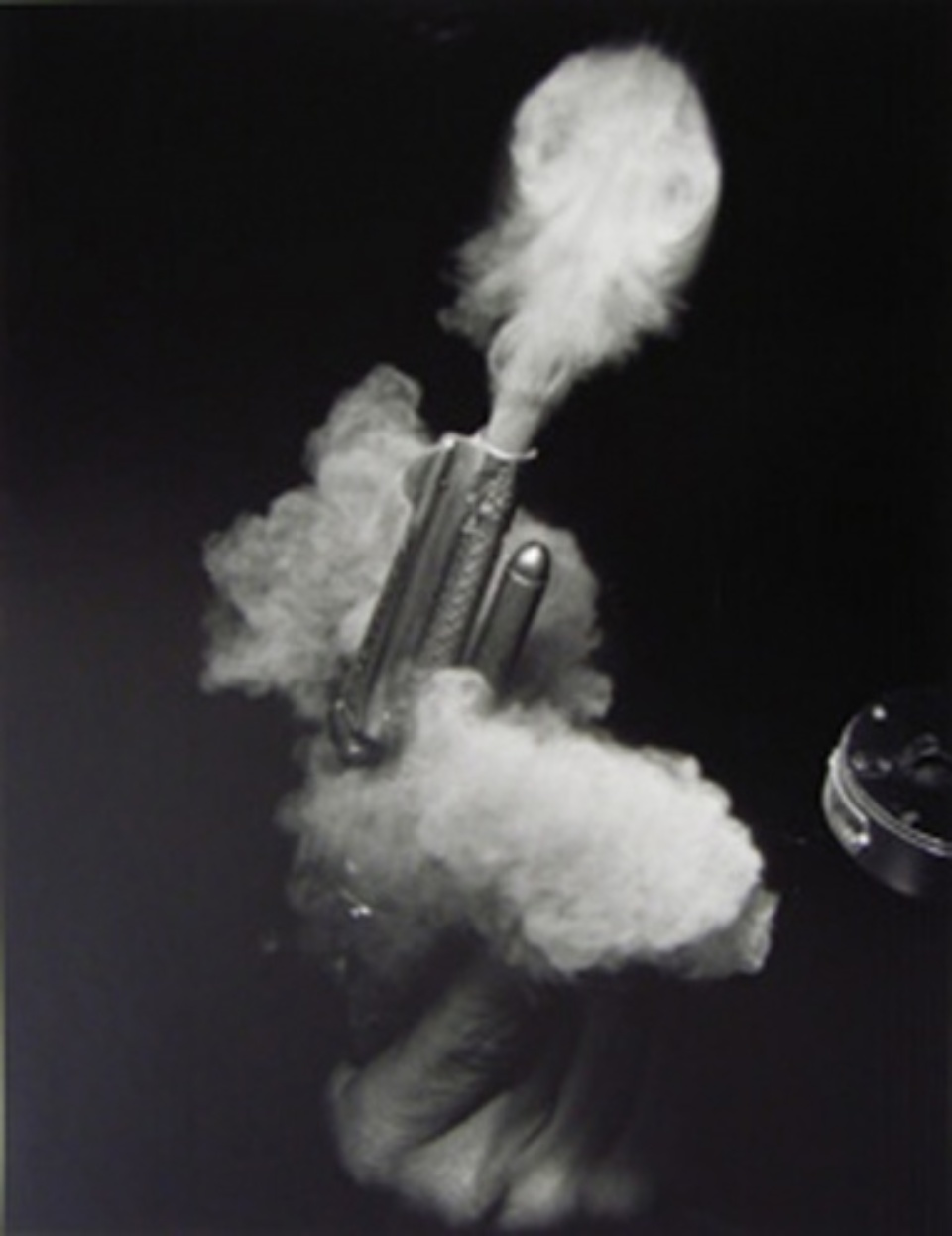 Harold Edgerton: Antique Gun Firing 1935 Signed and dated on verso Gelatin silver print, printed later 50 x 40 cm Ed. 4/25