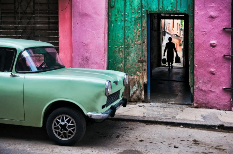 Russian Car in Old Havana Cuba, 2010