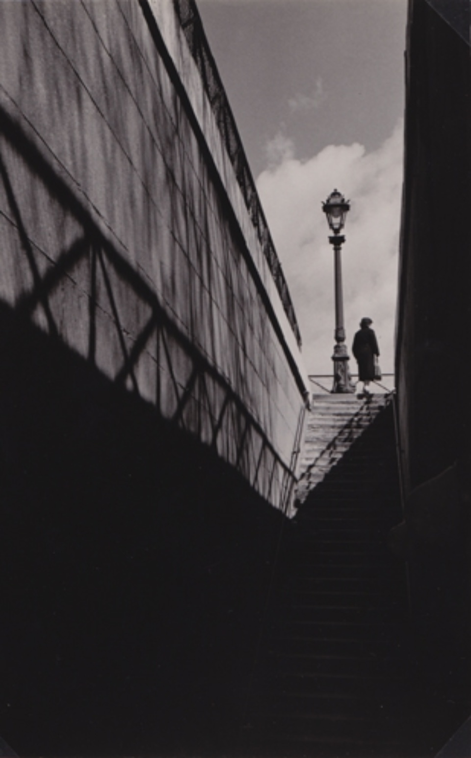 Herbert List Stairway at the Quai Paris, France, 1936 Vintage Gelatin Silver Print Estate stamp on verso 16,8 x 11,3 cm