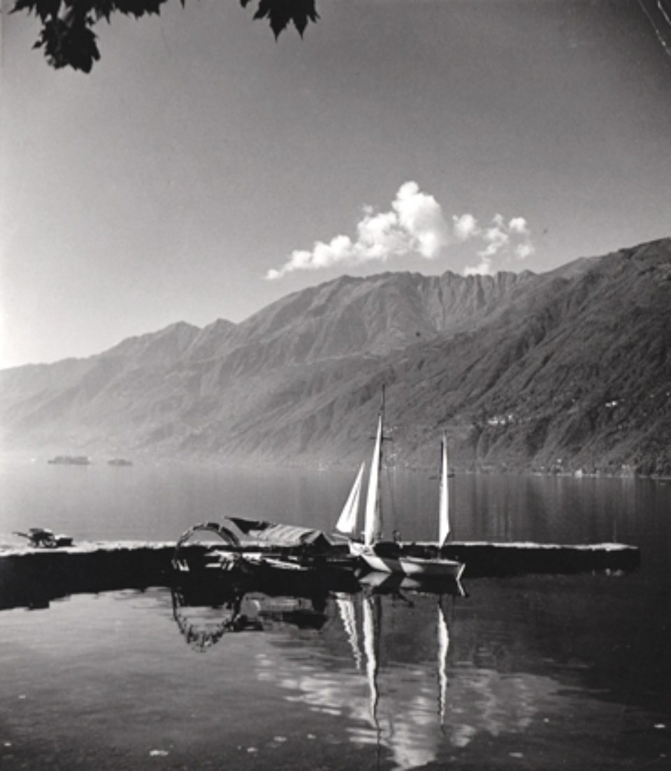 Herbert List Harbour at the Lago Maggiore Ascona, Switzerland, 1936 Vintage Gelatin Silver Print Estate stamp on verso 14,8 x 12,7 cm