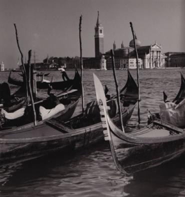 Herbert List Blick auf die Isola die S. Giorgio Maggiore Venice, Italy, Italy Vintage Gelatin Silver Print Estate stamp on verso 23 x 22 cm