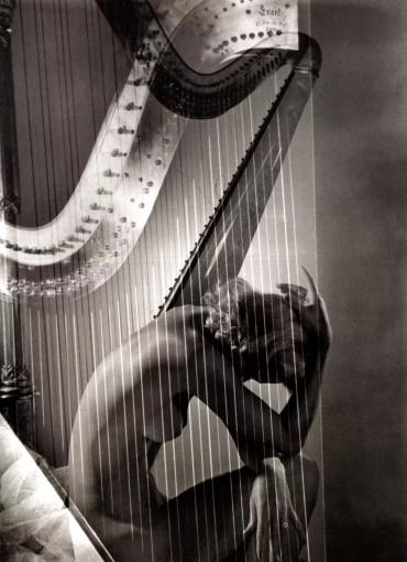 Horst P. Horst. Lisa with Harp, Paris, 1939
