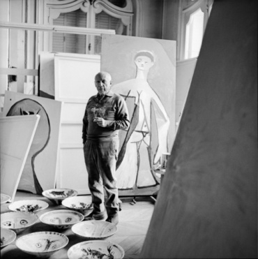 Franz Hubmann Picasso, Villa La Californie Cannes, 1957 Modern gelatin silver print Artist stamp on verso