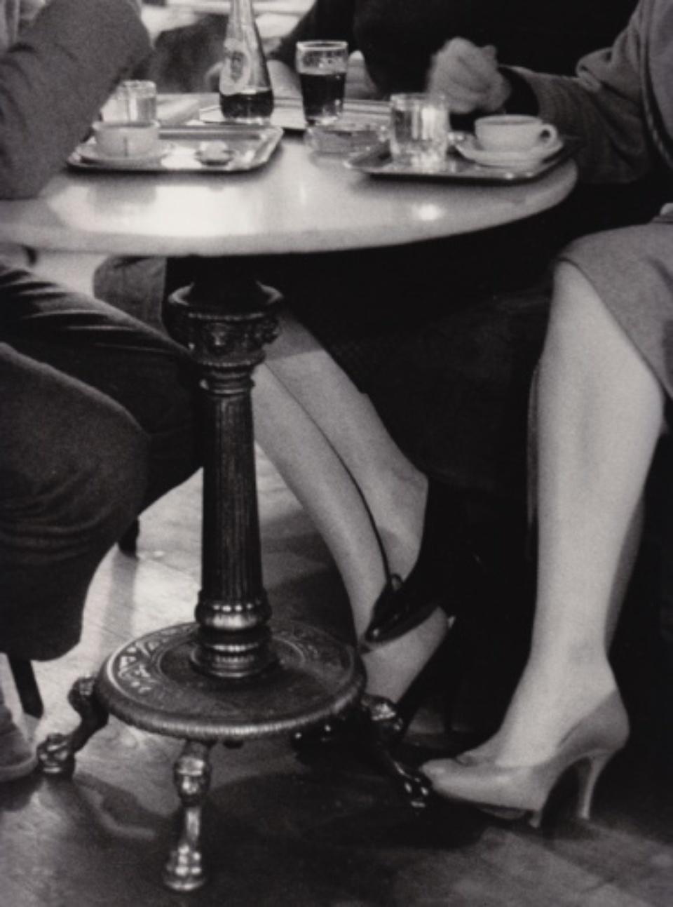 Franz Hubmann Café Hawelka Wien Vintage gelatin silver print Artist stamp on verso 30 x 24 cm