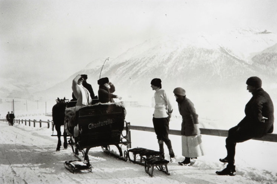 Jacques-Henri Lartigue St. Moritz Janvier, 1913 Gelatin Silver Print Embossed on recto Estate stamp on verso 30 x 40 cm